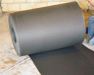 Звукоизоляция бетонного перекрытия под стяжку, конструкция «плавающий пол», фото