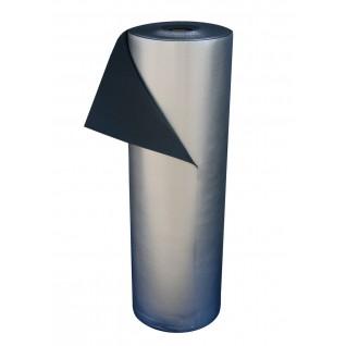 Пароизоляционная подложка Polifoam с металлизированной пленкой BOPP под ламинат (3 мм, рулон 55 м. кв.), фото 1