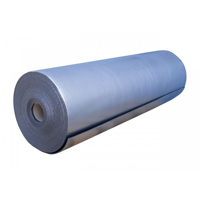 Вспененный полиэтилен Polifoam (Полифом) 3 мм ламинированный металлизированной пленкой ВОРР, рулон 55 м.кв. (ППЭ 3003/ВОРР 1,1х50м), фото 3