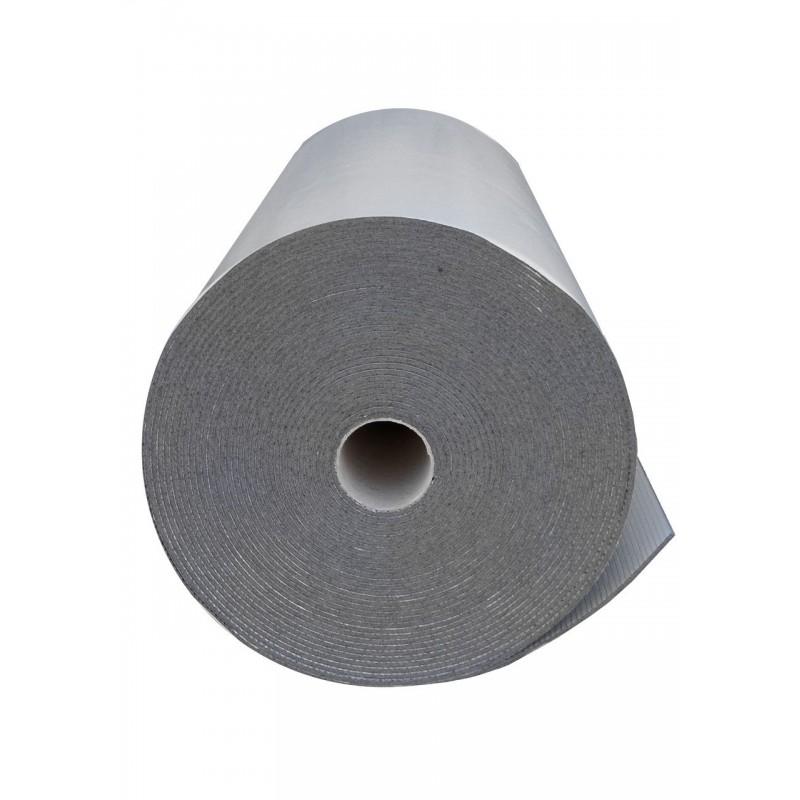 Пенополиэтилен Polifoam 8 мм самоклеящийся с отражающей слоем BOPP (3008/BOPP с клейким слоем, рулон 25 м.кв.), фото 2