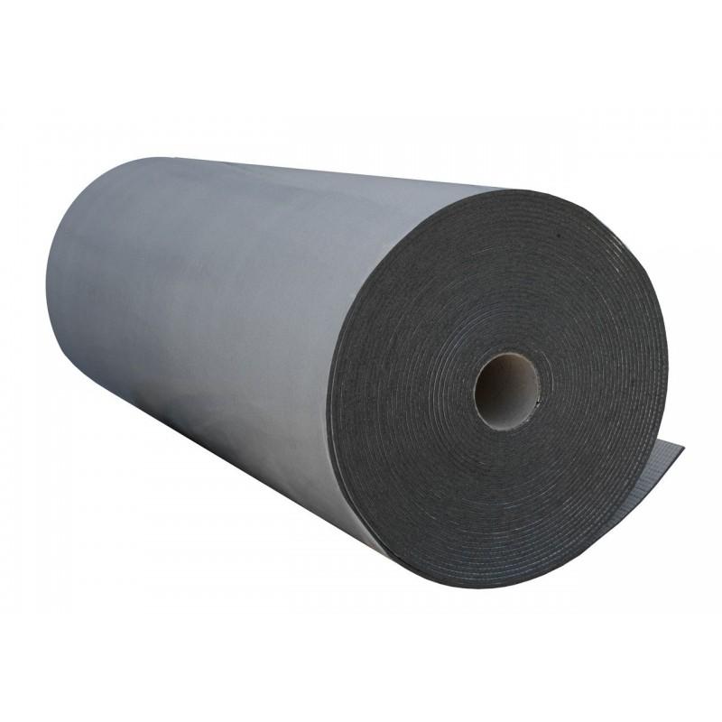Пенополиэтилен Polifoam 4 мм самоклеящийся с отражающей слоем BOPP (3004/BOPP с клейким слоем, рулон 25 м.кв.), фото 2