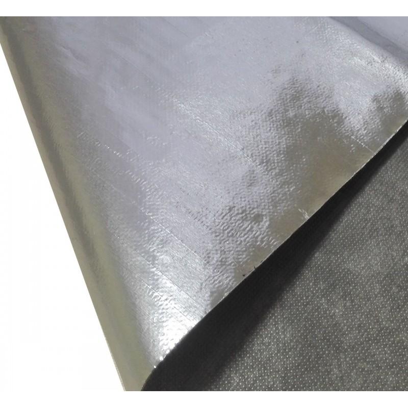 Фольгированное нетканое полотно АЛЮБОНД (рулон 50 м. кв.), фото 1