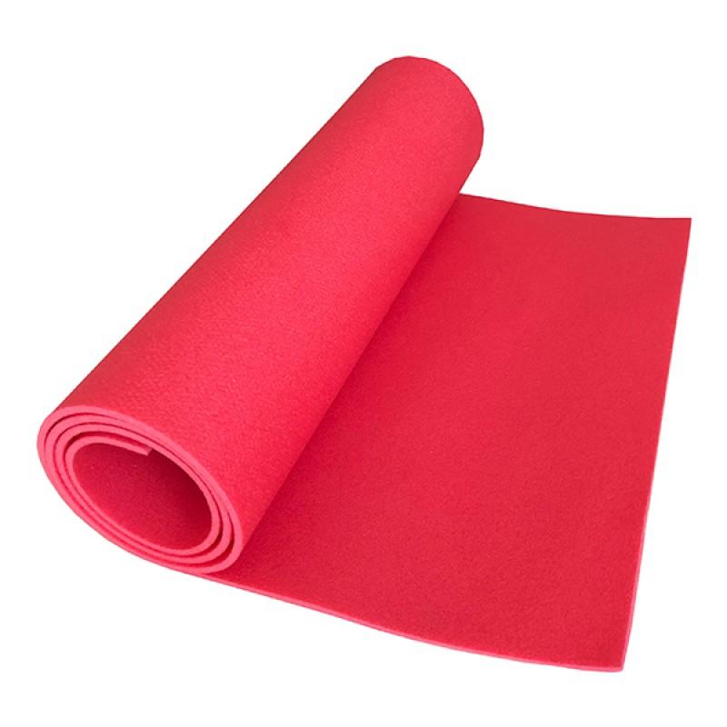 Коврик детский Polifoam (Полифом) для занятий спортом (0,5 х 1,5 м), красный, фото 2