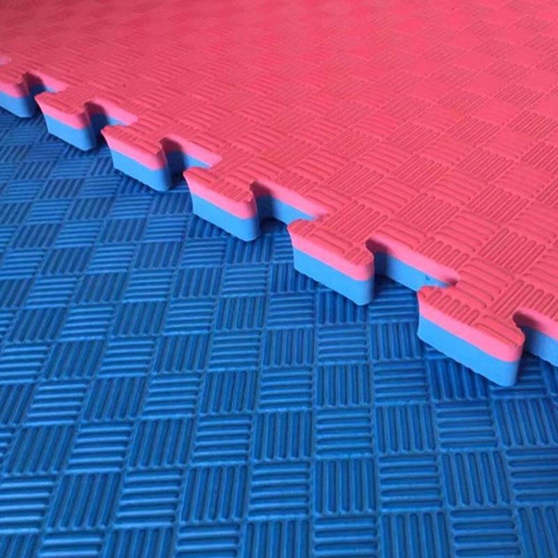 Татами мат ласточкин хвост 40 мм (ЕВА) красно-синий