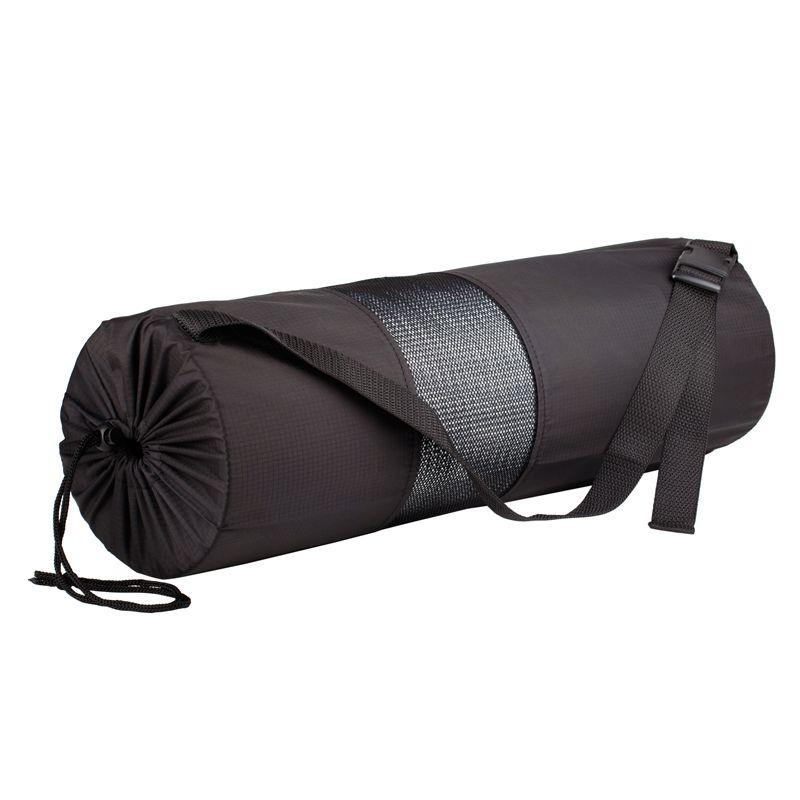 Сумка-чехол для йога и фитнес коврика шириной 60 см, толщиной от 4 до 6 мм (диаметр до 14 см), черный, фото 1