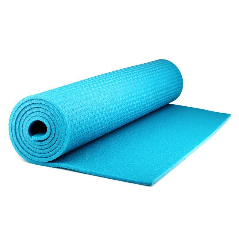 Коврик для фитнеса Polifoam (Полифом) (0,6 х 1,5 м), бирюзовый, фото 2