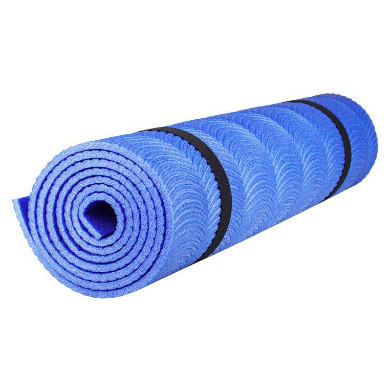 Коврик Polifoam (Полифом) однослойный с рифлением радуга (0,5 х 1,8 м), синий, фото 1
