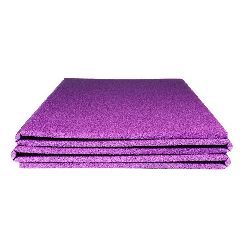 Коврик для фитнеса Polifoam (Полифом) складывающийся (0,58 х 1,5 м), фиолетовый, фото 3