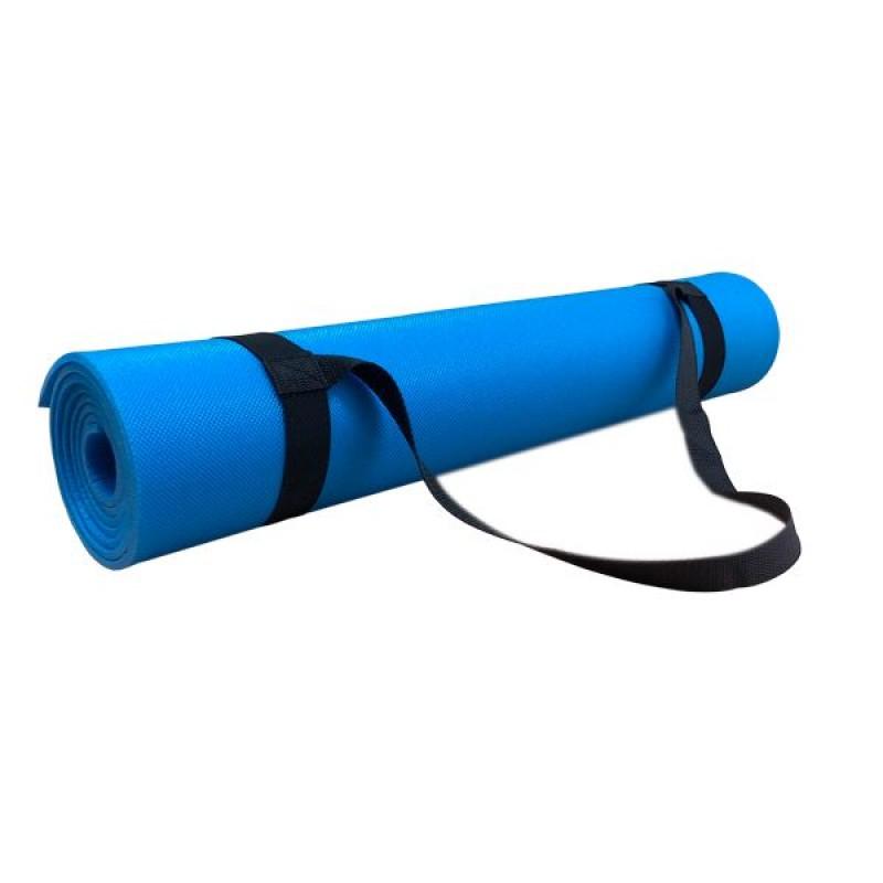 Коврик для йоги и фитнеса Polifoam (Полифом) ультрамягкий (0,6 х 1,73 м), голубой, фото 2