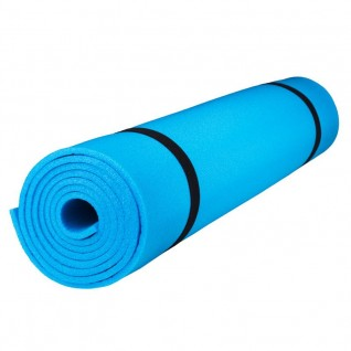 Коврик для йоги и фитнеса Polifoam (Полифом) ультрамягкий (0,6 х 1,73 м), голубой, фото 1