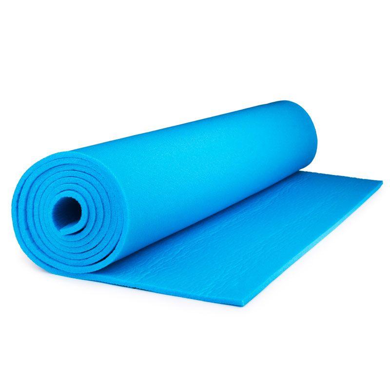 Коврик для йоги и фитнеса Polifoam (Полифом) ультрамягкий (0,6 х 1,73 м), голубой, фото 3