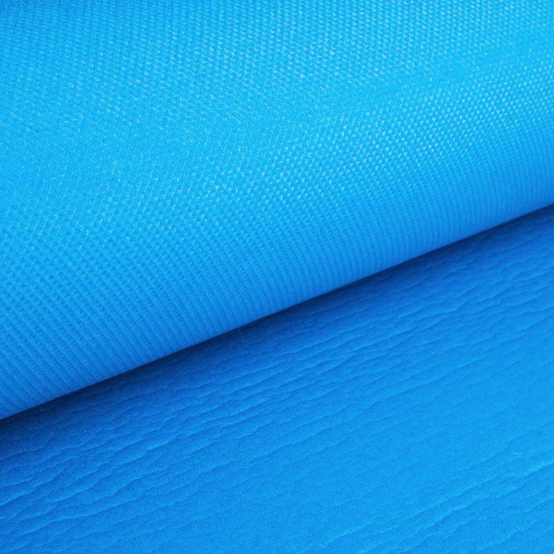Коврик для йоги и фитнеса Polifoam (Полифом) ультрамягкий (0,6 х 1,73 м), голубой, фото 4