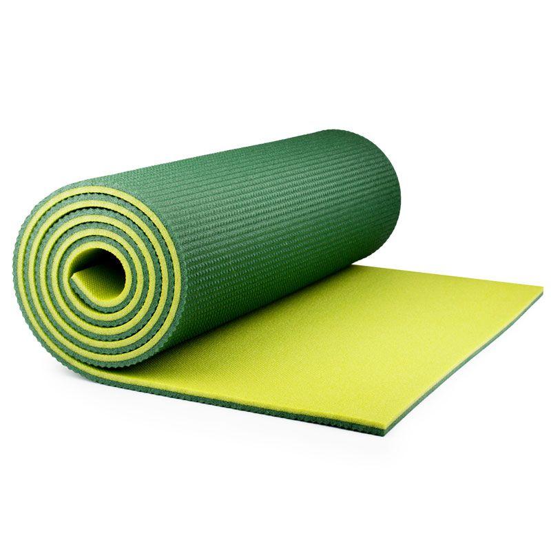 Коврик Polifoam (Полифом) туристический двухслойный 10 мм (0,5 х 1,8 м), зелено-салатовый, фото 2