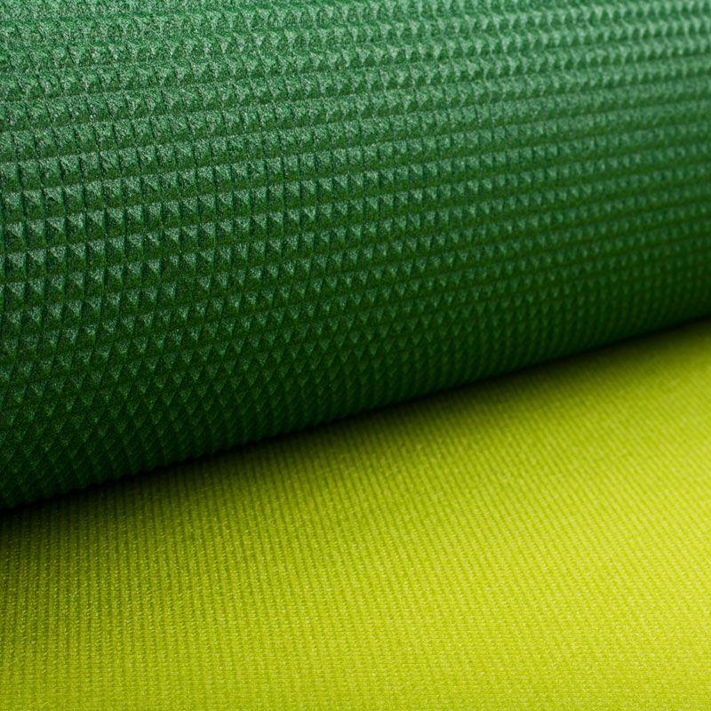 Коврик Polifoam (Полифом) туристический двухслойный 10 мм (0,5 х 1,8 м), зелено-салатовый, фото 5