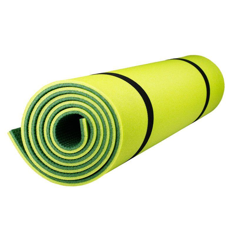 Коврик Polifoam (Полифом) туристический двухслойный 10 мм (0,5 х 1,8 м), зелено-салатовый, фото 3