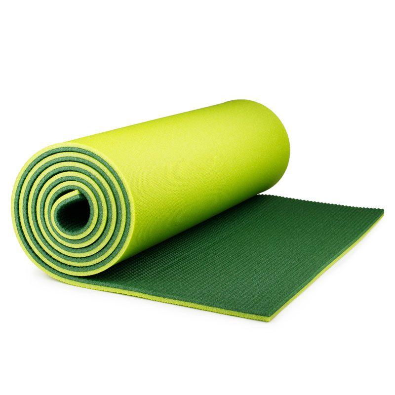 Коврик Polifoam (Полифом) туристический двухслойный 10 мм (0,5 х 1,8 м), зелено-салатовый, фото 4