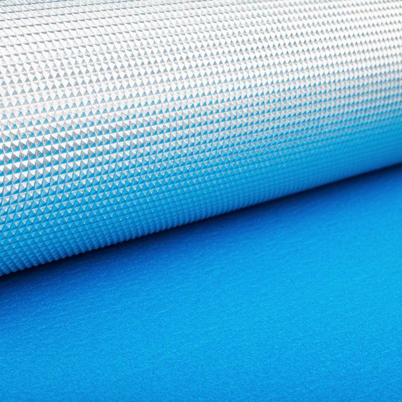 Коврик Polifoam (Полифом) с металлизированной пленкой  7 мм (0,5 х 1,8 м), голубой, фото 3