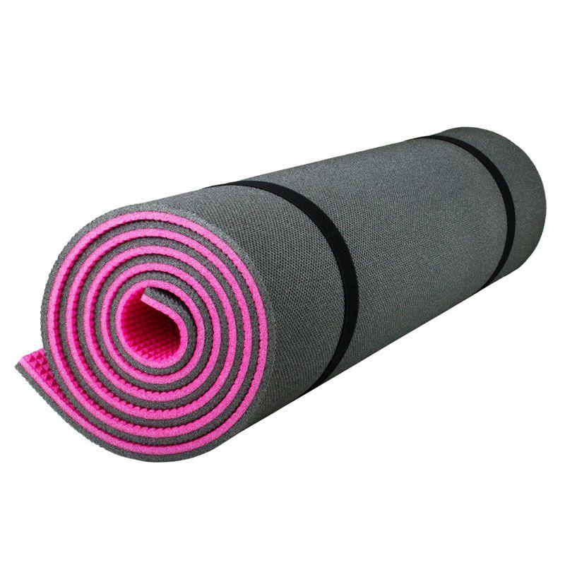 Коврик Polifoam (Полифом) туристический двухслойный 10 мм (0,5 х 1,8 м), розово-серый, фото 4