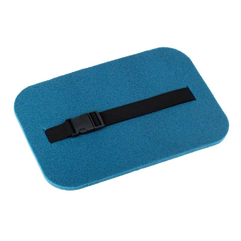 Сидушка туристическая Polifoam металлизированная (Полифом) с застежкой фастекс (24 х 35 см, толщ. 10 мм) синяя, фото 2