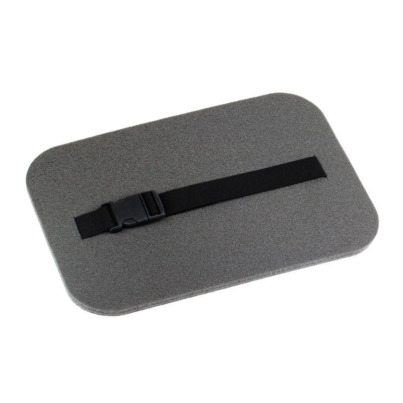 Сидушка туристическая Polifoam металлизированная (Полифом) с застежкой фастекс (24 х 35 см, толщ. 10 мм) серая, фото 2