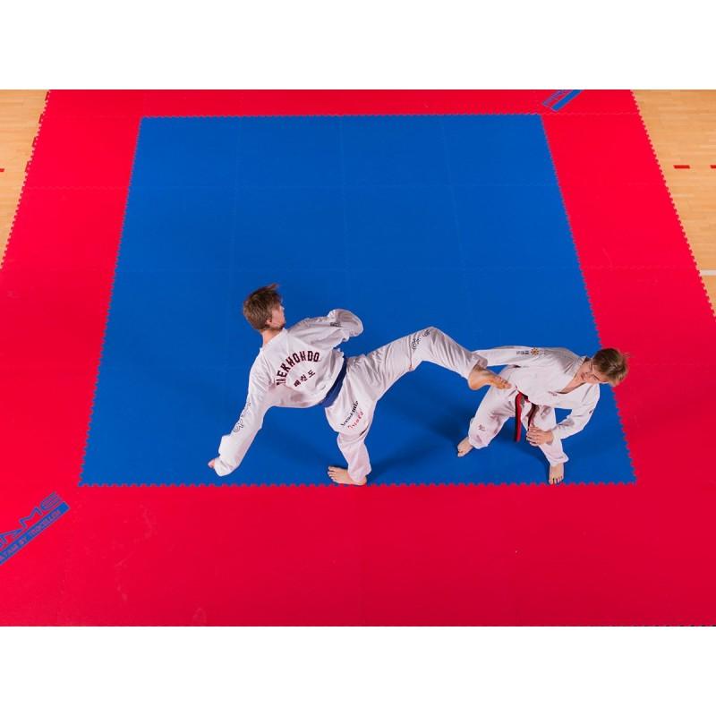 Татами ProGame WKF для занятий кикбоксингом 22 мм (ласточкин хвост), 1 х 1 м, фото 4