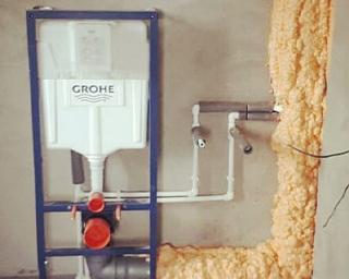 Изоляция труб холодного водоснабжения утеплителем Полинор