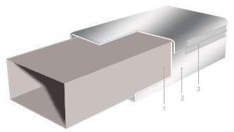 Схема установки отражающей изоляции Polifoam с клеевым слоем и без