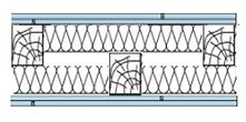 Конструкция каркасных перегородок на деревянном каркасе, схема 2