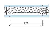 Конструкция каркасных перегородок на деревянном каркасе, схема 1